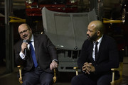 2018 Civilian Leadership Honoree, Founder of craigslist Craig Newmark and Jeffrey Wright speak during IAVA 12th Annual Heroes Gala at the Classic Car Club Manhattan on November 8, 2018 in New York City.