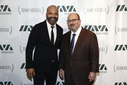Special guest Jeffrey Wright and 2018 Civilian Leadership Honoree, Founder of craigslist Craig Newmark attends IAVA 12th Annual Heroes Gala at the Classic Car Club Manhattan on November 8, 2018 in New York City.