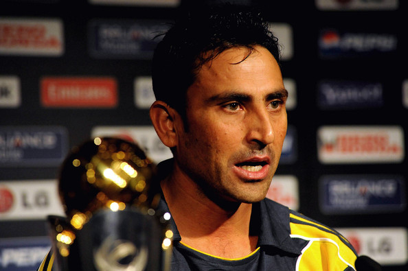 Pakistan cricket captain Younis Khan during the ICC Champions Trophy press conference on September 19 in Johannesburg, South Africa.