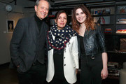"""(L-R) Richard E. Grant, President of AMC Networks Sarah Barnett and Eve Lindley attend IFC """"Dispatches From Elsewhere"""" screening In NYC on February 27, 2020 in New York City."""