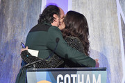 Luca Guadagnino and Rachel Weisz  onstage during IFP's 27th Annual Gotham Independent Film Awards on November 27, 2017 in New York City.