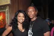 Karen Civil and Lecrae attend IGA X BET Awards Party 2018 on June 23, 2018 in Los Angeles, California.