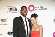 Metta World Peace and guest attend IMDb LIVE At The Elton John AIDS Foundation Academy Awards® Viewing Party on February 24, 2019 in Los Angeles, California.