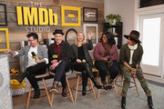 (L-R) Director Silas Howard, actors Jim Parsons, Claire Danes, Octavia Spencer and Priyanka Chopra from 'A Kid Like Jake' attend The IMDb Studio and The IMDb Show on Location at The Sundance Film Festival on January 21, 2018 in Park City, Utah.