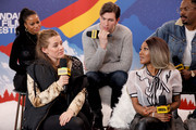 Taylour Paige, Riley Keough, Nicholas Braun, A'Ziah King, and Colman Domingo of 'Zola' attend the IMDb Studio at Acura Festival Village on location at the 2020 Sundance Film Festival – Day 2 on January 25, 2020 in Park City, Utah.