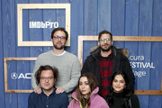 Andy Siara, Max Barbakow, Cristin Milioti, Andy Samberg and Camila Mendes of 'Palm Springs' attend the IMDb Studio at Acura Festival Village on location at the 2020 Sundance Film Festival – Day 2 on January 25, 2020 in Park City, Utah.