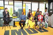 "(L-R) Host Dave Karger, director Barry Jenkins, Regina King, KiKi Layne,Colman Domingo,Stephan James and Teyonah Parris of ""If Beale Street Could Talk"" attend The IMDb Studio presented By Land Rover At The 2018 Toronto International Film Festival at Bisha Hotel & Residences on September 9, 2018 in Toronto, Canada."