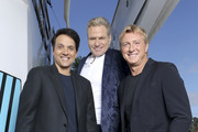 This image has been altered: a logo was added.) Ralph Macchio, William Zabka and Martin Kove attend the #IMDboat at San Diego Comic-Con 2019: Day Two at the IMDb Yacht on July 19, 2019 in San Diego, California.