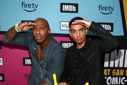 Mehcad Brooks and Tim Kash attend the #IMDboat Party presented by Soylent and Fire TV at San Diego Comic-Con 2019 at the IMDb Yacht on July 19, 2019 in San Diego, California.