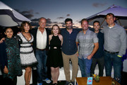 Aparna Nancherla, Milana Vayntrub, Kelsey Grammer, Lily Stuart Streiff, Frank Lesser, Corey Moss, Aaron Burman and Scott Roesch attend the #IMDboat Party presented by Soylent and Fire TV at San Diego Comic-Con 2019 at the IMDb Yacht on July 19, 2019 in San Diego, California.