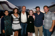 Aparna Nancherla, Milana Vayntrub, Kelsey Grammer,  Lily Stuart Streiff, Frank Lesser and Corey Moss attend the #IMDboat Party presented by Soylent and Fire TV at San Diego Comic-Con 2019 at the IMDb Yacht on July 19, 2019 in San Diego, California.