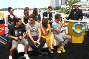 Candice Patton, Carlos Valdes, Danielle Panabaker, Hartley Sawyer, Danielle Nicolet, Jessica Parker Kennedy, Grant Gustin, Tom Cavanagh and Kevinn Smith attend the #IMDboat At San Diego Comic-Con 2018: Day Three at The IMDb Yacht on July 21, 2018 in San Diego, California.