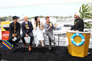 Michael Malarkey, Neal McDonough, Laura Mennell, Aidan Gillen and Kevin Smith attend the #IMDboat At San Diego Comic-Con 2018: Day Three at The IMDb Yacht on July 21, 2018 in San Diego, California.