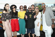 Nicole Maines, Katie McGrath, Chyler Leigh, David Harewood, Kevin Smith, Jesse Rath, Melissa Benoist and Mehcad Brooks attend the #IMDboat At San Diego Comic-Con 2018: Day Three at The IMDb Yacht on July 21, 2018 in San Diego, California.