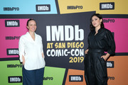 Kate Purdy and Rosa Salazar attend the #IMDboat at San Diego Comic-Con 2019: Day One at The IMDb Yacht on July 18, 2019 in San Diego, California.