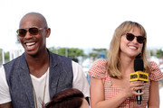 Mehcad Brooks and Melissa Benoist speak onstage at the #IMDboat at San Diego Comic-Con 2019: Day Three at the IMDb Yacht on July 20, 2019 in San Diego, California.