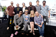 (L-R) Chace Crawford, Kevin Smith, Jessie T. Usher, Tomer Kapon, Antony Starr, Laz Alonso, Erin Moriarty, Eric Kripke, Jack Quiad and Karl Urban attend the #IMDboat at San Diego Comic-Con 2019: Day Two at the IMDb Yacht on July 19, 2019 in San Diego, California.