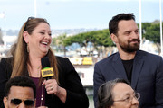 Camryn Manheim and Jake Johnson speak onstage at the #IMDboat at San Diego Comic-Con 2019: Day Two at the IMDb Yacht on July 19, 2019 in San Diego, California.
