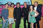 Tanner Buchanan, Xolo Maridueña, Ralph Macchio, William Zabka, Mary Mouser and Martin Kove attend the #IMDboat at San Diego Comic-Con 2019: Day Two at the IMDb Yacht on July 19, 2019 in San Diego, California.