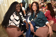 CMO of William Morris Endeavor, Bozoma Saint John (L) and Model Veronica Webb attend a lunch for the Front Five, Presented by E! at NYFW: The Shows during New York Fashion Week at Spring Studios on February 7, 2019 in New York City.