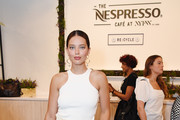 Emily DiDonato is spotted at the Nespresso Cafe during NYFW: The Shows at Spring Studios on September 11, 2019 in New York City.