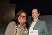 Fern Mallis (L) and author of 'Fashionopolis' Dana Thomas pose before the 'Responsible Revolution' panel in partnership with The Woolmark Company during NYFW: The Shows at Spring Studios on September 06, 2019 in New York City.