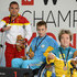 Dmytro Vynohradets Photos - Medal Winners for the Men's 50m Freestyle S3 final (L-R) Miguel Angel Martinez Tajuelo of Spain (Silver) , Dmytro Vynohradets of Ukraine (Gold) and Grant Patterson of Australia (Bronze) pose with their medals during IPC Swimming World Championships at Parc Jean Drapeau on August 14, 2013 in Montreal, Canada. - IPC Swimming World Championships: Day 3