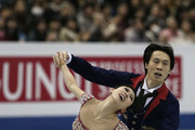 Qing Pang and Jian Tong of China compete in the Pairs Free Skating Final during day three of the ISU Grand Prix of Figure Skating Final 2013/2014 at Marine Messe Fukuoka on December 7, 2013 in Fukuoka, Japan.