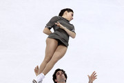 Jessica Dube and Bryce Davison of Canada compete in the Pairs Free Skate during the 2010 ISU World Figure Skating Championships on March 24, 2010 at the Palevela in Turin, Italy.