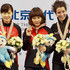 Li Jianrou Photos - (L-R) Liu Qiuhong and Li Jianrou  of China and Marie-Eve Drolet of Canada pose during the medal presentation for the Women's 1500m final during day one of the ISU World Short Track Speed Skating Championships at the Oriental Sports Center on March 9, 2012 in Shanghai, China. - ISU World Short Track Speed Skating Championships 2012 - Day 1