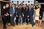 (L-R) Bo Kim, Jamee Gidwitz, IVY co-founder Philipp Triebel, Sahm Adrangi, Kathryn Minshew, Cameron Silver, Zach Sims, Marcel Wanders, Melanie Whelan, Preston Konrad, Jessica Brillhart, Grace Atwood, IVY co-founder Beri Meric, Anson Mount, Jia Li, Sharon Carpenter, and Sarah Zapp attend the IVY Innovator New York Dinner, presented by Cadillac on December 8, 2015 in New York City.