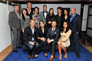 (L-R rear) Anson Mount, Jia Li, Marcel Wanders, Grace Atwood, Cameron Silver, Kathryn Minshew, Zach Sims, Jessica Brillhart, IVY co-founder Beri Meric, (L-R front) IVY co-founder Philipp Triebel, Melanie Whelan, Preston Konrad, and Sharon Carpenter attend the IVY Innovator New York Dinner, presented by Cadillac on December 8, 2015 in New York City.