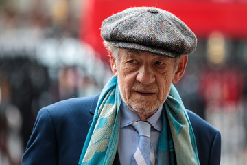 Ian McKellen Memorial Service Takes Place For Theatre Great Sir Peter Hall OBE