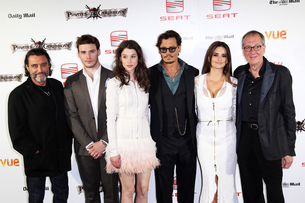 Ian McShane (UK TABLOID NEWSPAPERS OUT) L-R Ian McShane, Sam Claflin, Astrid Berges-Frisbey and Geoffrey Rush attend the UK premiere of Pirates Of The Caribbean: On Stranger Tides at the Vue Westfield on May 12, 2011 in London, England.