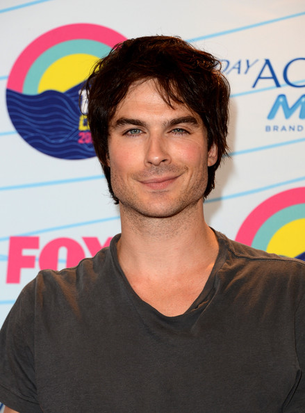 Ian Somerhalder Actor Ian Somerhalder, winner of Choice Male Hottie award and Choice Fantasy/Sci-Fi Show award, poses in the press room during the 2012 Teen Choice Awards at Gibson Amphitheatre on July 22, 2012 in Universal City, California.