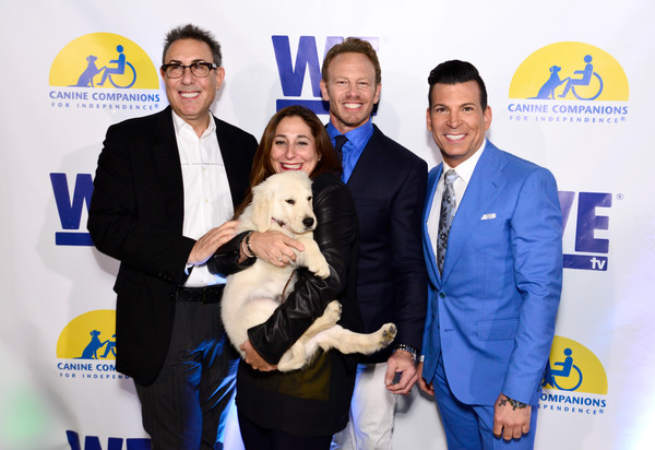 WE tv and Ian Ziering Raise Awareness For Canine Companions For Independence [event,white-collar worker,premiere,ian ziering,marc juris,david tutera,president,lauren gellert,ian ziering raise awareness for canine companions for independence,programming,l-r,we tv,event]