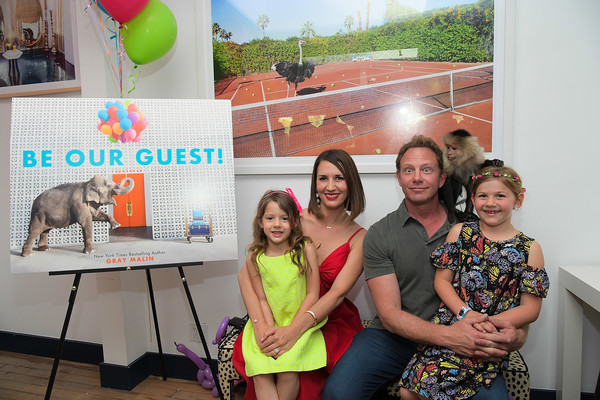 "Gray Malin and Elizabeth Chambers celebrate Gray Malin's First Children's Book, ""Be Our Guest!"" at his West Hollywood studio [gray malin,elizabeth chambers,ian ziering,penna ziering,mia,erin ludwig,gray malins first childrens book,be our guest,youth,community,event,adaptation,fun,summer,child,party,smile,fawn,west hollywood,studio]"