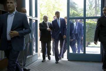 Ibrahim al-Jaafari US Secretary of State John Kerry on Unannounced Visit to Iraq