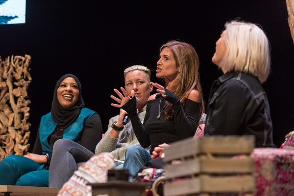Hello Sunshine X Together Live - Toronto [event,performance,human,conversation,adaptation,convention,performing arts,talent show,heater,stage,abby wambach,ibtihaj muhammad,glennon doyle,milck,toronto,bluma appel theatre,canada,hello sunshine x,hello sunshine x,show]