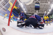 Pernilla Winberg #16 of Sweden scores a goal against So Jung Shin #31 of Korea in the second period during the Women's Ice Hockey Preliminary Round - Group B game on day three of the PyeongChang 2018 Winter Olympic Games at Kwandong Hockey Centre on February 12, 2018 in Gangneung, South Korea.