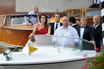George Clooney Cindy Crawford 'Ides Of March' Cast Arrive - 68th Venice Film Festival