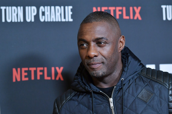 Netflix's 'Turn Up Charlie' For Your Consideration Event - Arrivals [turn up charlie,hairstyle,forehead,premiere,jacket,buzz cut,arrivals,idris elba,for your consideration,west hollywood,california,pacific design center,netflix,event]