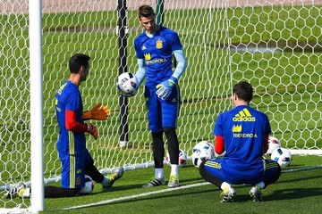 Iker Casillas Spain Training Session and Press Conference