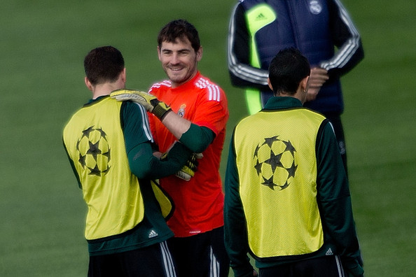 7e69b839247 Iker Casillas and Nacho Fernandez Photos»Photostream · Pictures · Real  Madrid Training Session