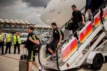 Iker Casillas Team Spain Returns to Madrid