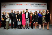 "(L-R)  Sydne Rome, Gisella Sofio,  Andrea Roncato, guest, guest, guest,  Micaela Ramazzotti,  Cesare Cremonini,  Stefania Barca, Sara Pastore, Rita Carlini, Manuela Morabito  and Isabelle Adriani attend the ""Il Cuore Grande Delle Ragazze"" Photocall during the 6th International Rome Film Festival on November 1, 2011 in Rome, Italy."