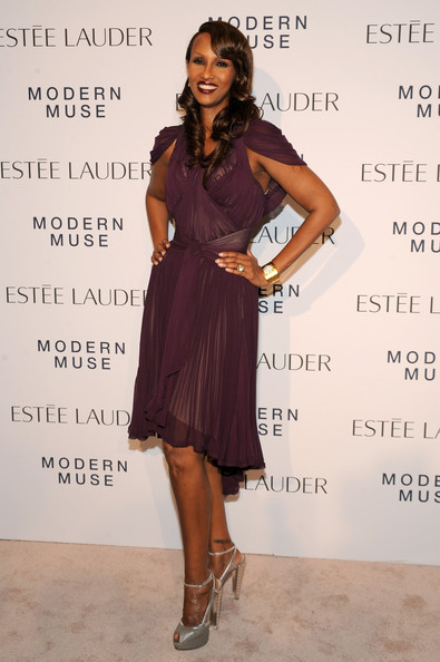 Iman - Arrivals at the Estee Lauder Fragrance Party
