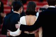 Actors Jeremy Renner and Marion Cotillard attend the 'The Immigrant' premiere during The 66th Annual Cannes Film Festival at the Palais des Festivals on May 24, 2013 in Cannes, France.