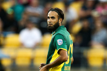 Imran Tahir New Zealand v South Africa - 3rd ODI