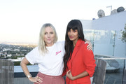 InStyle Editor in Chief Laura Brown and Jameela Jamil attend InStyle's Badass Women Dinner With Foster Grant at The London West Hollywood on August 13, 2019 in West Hollywood, California.